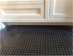 Stainless Steel Studded Rubber Tiles In Residential Kitchen Lication 2